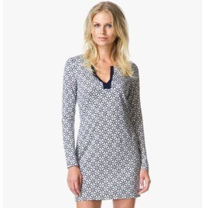 DVF Silk Jersey Reina Tunic Dress Bali Lace 6 NEW